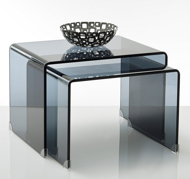 Les tables basses verre mobilier canape deco for Tables basses de salon en verre