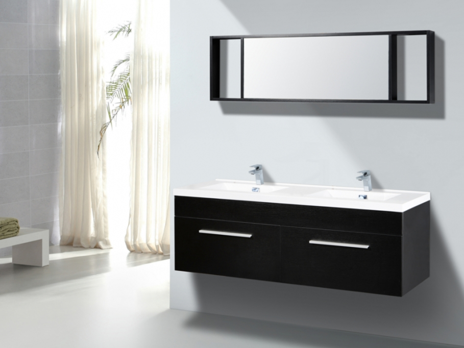meuble salle de bain noir et blanc maison design. Black Bedroom Furniture Sets. Home Design Ideas