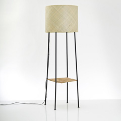 lampadaire design metal bambou laurent corio besimon redoute