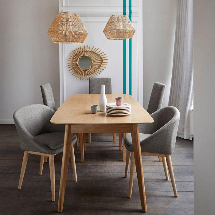 Tendance d co comment jouer le rotin mobilier canape for Table a manger la redoute
