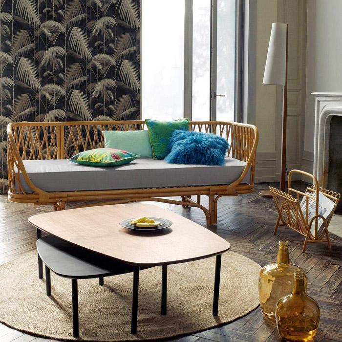 Tendance d co comment jouer le rotin mobilier canape for Soldes la redoute meubles