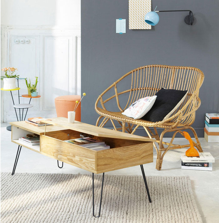 Tendance d co comment jouer le rotin mobilier canape deco - Table basse scandinave la redoute ...