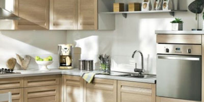 decoration cuisine bois clair. Black Bedroom Furniture Sets. Home Design Ideas