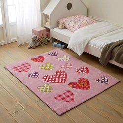 Tapis enfant fille coeurs Redoute