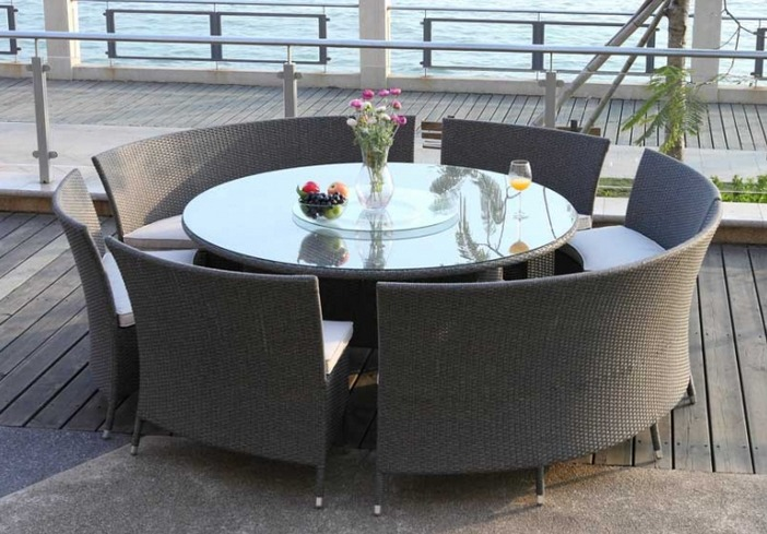 Awesome Salon De Jardin Table Ronde En Resine Photos - House Design ...