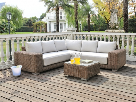Salon r sine tress e mobilier canape deco for Canape salon de jardin