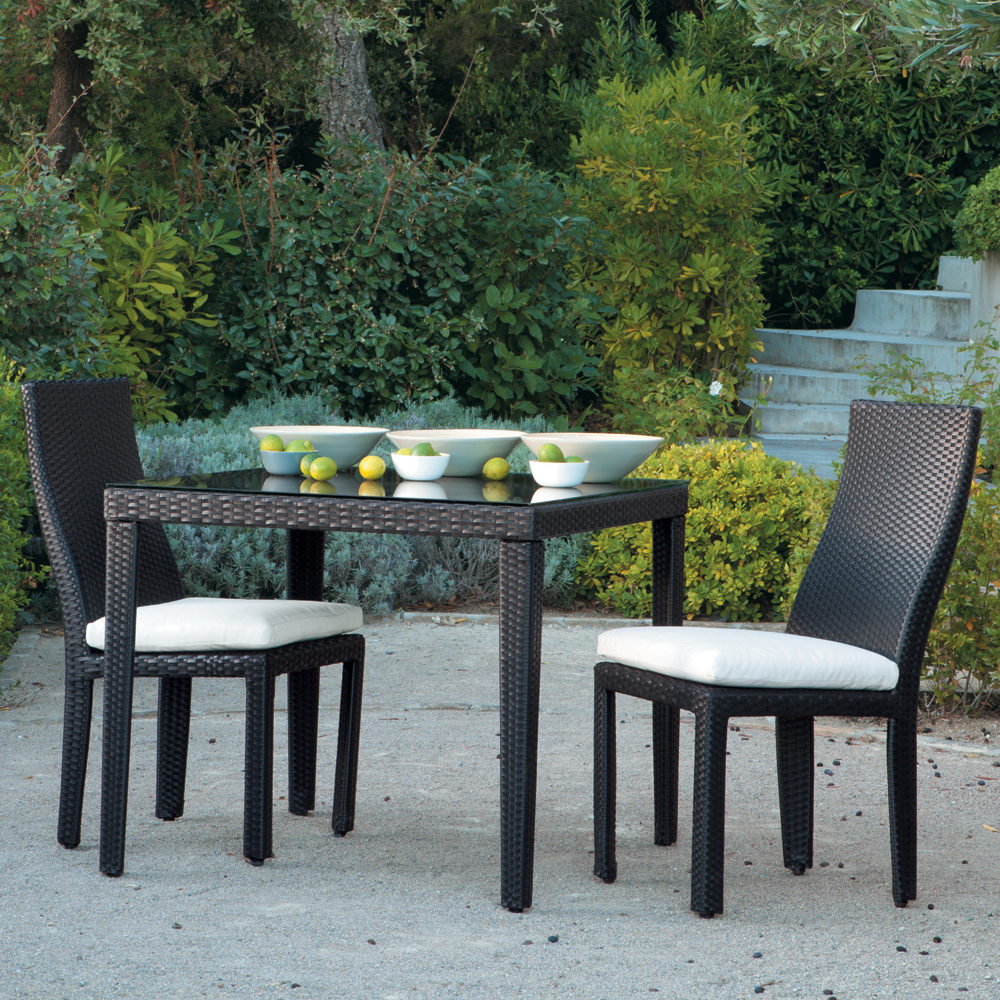 Table Chaise Jardin Resine Tressee