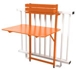 table rabattable balcon bistro fermob orange carotte