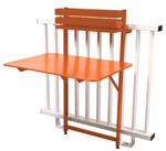 table rabattable balcon bistro fermob orange paprika
