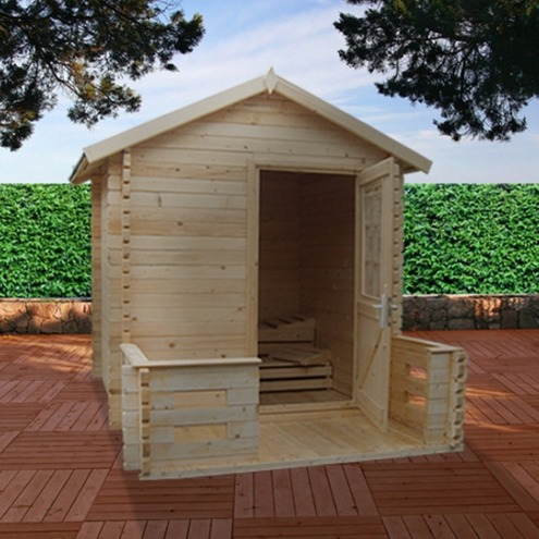 sauna traditionnel d'exterieur