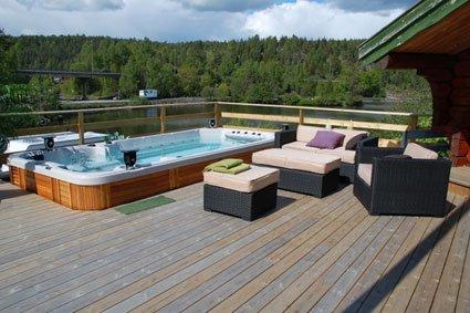 Spa de nage mobilier canape deco - Spa de nage exterieur ...