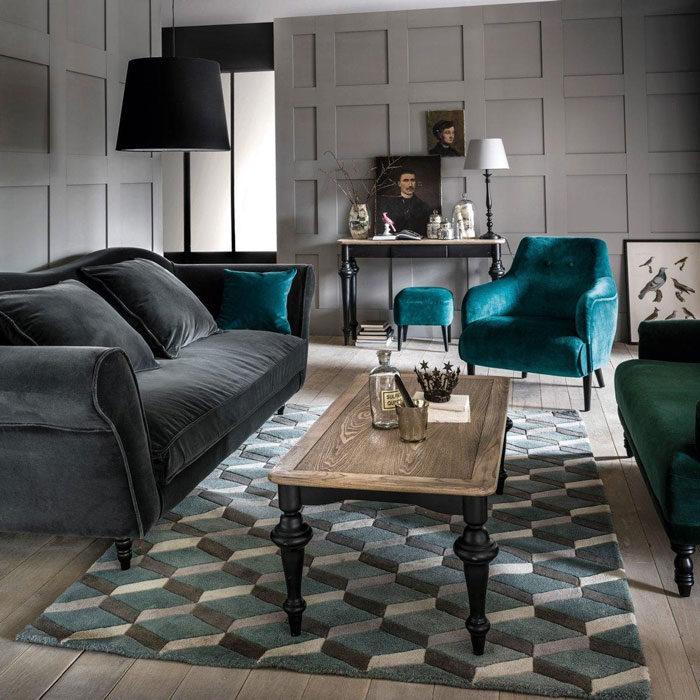 Fauteuils velours mobilier canape deco for Decoration maison la redoute
